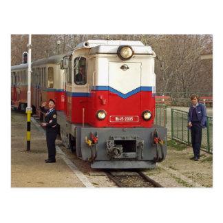 Childrens Railway, Budapest Postcard