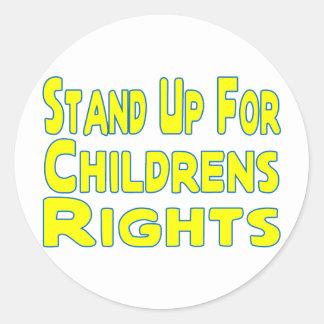 Childrens Rights Classic Round Sticker