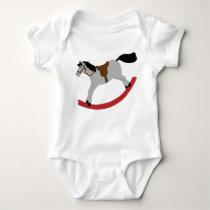 Children's Rocking Horse Baby Bodysuit