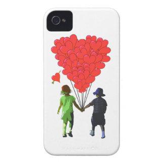 Childrens romantic heart balloon design iPhone 4 Case-Mate cases