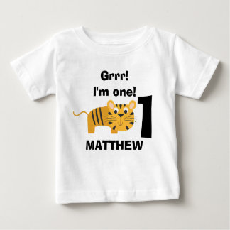 Children's Safari Animal Tiger Birthday Shirt