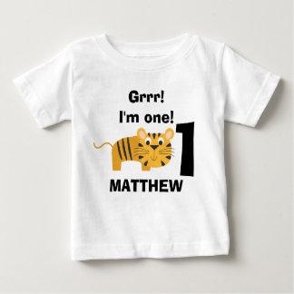 Children's Safari Animal Tiger Birthday Shirt