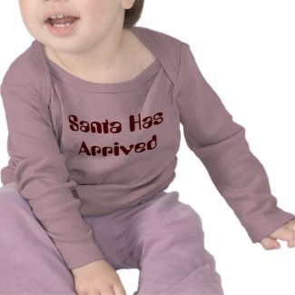 Childrens Santa Has Arrived Top Tees