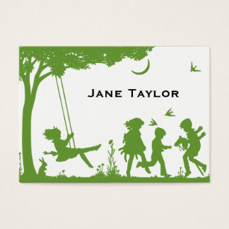 Children's Silouette Business Card