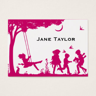Children's Silouette Mom Business Card