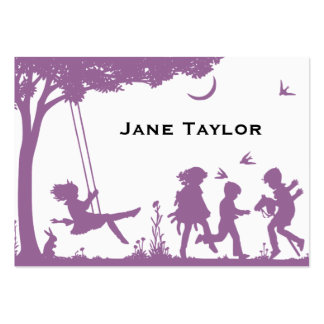 Children's Silouette Mom Large Business Cards (Pack Of 100)