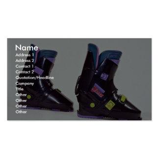 Children's ski boots business card template