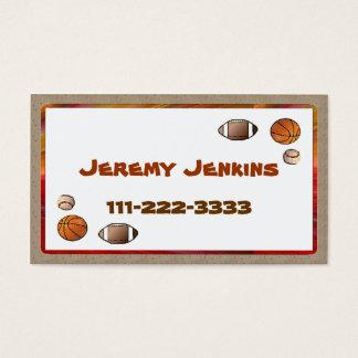 Children's Sports calling card