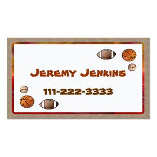 Children's Sports calling card Business Card Template