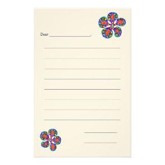 Children's Stationary, Flower Custom Stationery