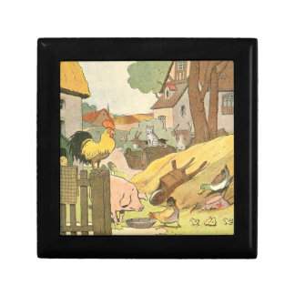 Children's Story Book Farm Animals Jewelry Box