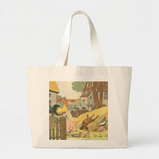 Children's Story Book Farm Animals Large Tote Bag