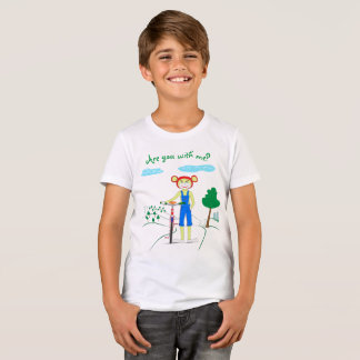 Children's T-shirt for a boy with a bright pattern