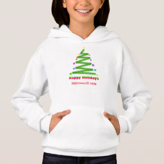 CHILDRENS T-SHIRT HAPPY HOLIDAYS CHRISTMAS TREE