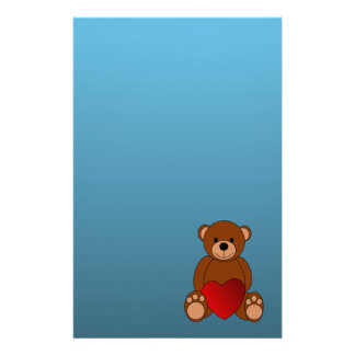 Children's Teddy Bear Stationery