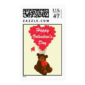 Childrens Teddy bear  Valentine's Postage