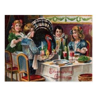 Children's Thanksgiving Dinner Post Cards