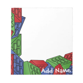Childrens Toy Art - Building Blocks Notepad