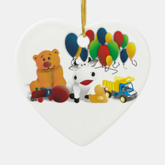 Children's toy ceramic ornament
