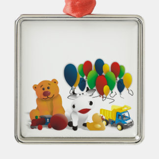 Children's toy metal ornament