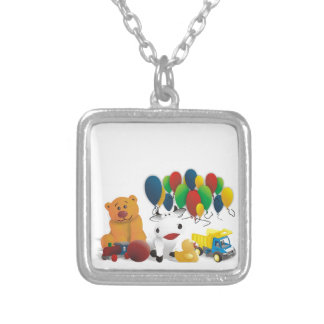 Children's toy personalized necklace