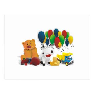Children's toy postcard
