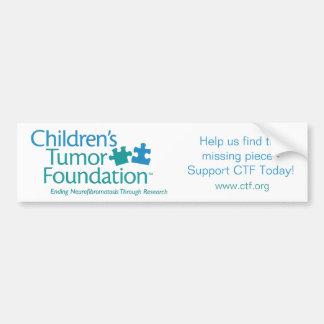 Children's Tumor Foundation Bumper Sticker Car Bumper Sticker