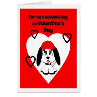 Children's Valentine's Day Cute Dog Greeting Card