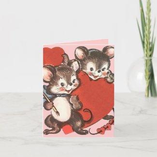 Children's Vintage Valentine's Day Card card