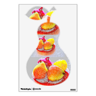 CHILDRENS WALL DECAL - FRESH FRUIT PEARS