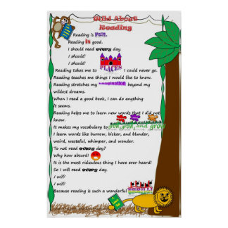 Children's Wild About Reading Poster