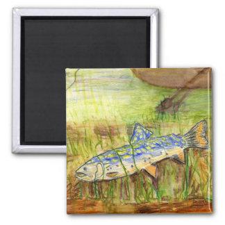Children's Winning Artwork: 2 Inch Square Magnet