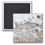 Children's Winning Artwork: brook trout 2 Inch Square Magnet