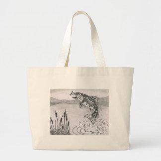 Children's Winning Artwork: brook trout Jumbo Tote Bag