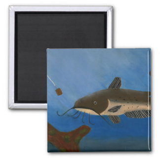 Children's Winning Artwork: channel catfish 2 Inch Square Magnet