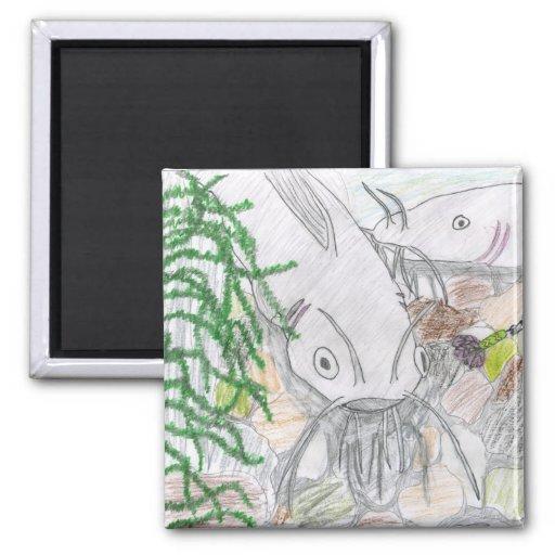 Children's Winning Artwork: channel catfish Magnets