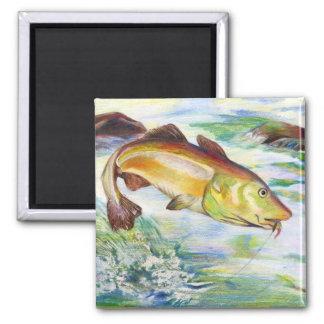 Children's Winning Artwork: cod 2 Inch Square Magnet