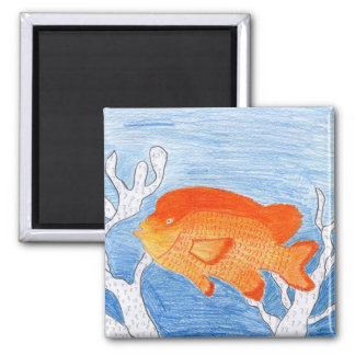 Children's Winning Artwork: garibaldi 2 Inch Square Magnet