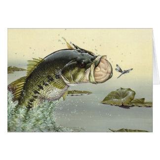 Children's Winning Artwork: largemouth bass Card