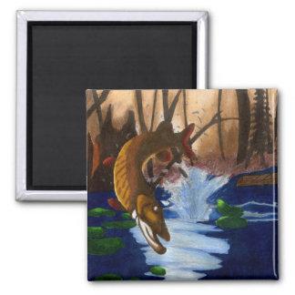 Children's Winning Artwork: muskie 2 Inch Square Magnet