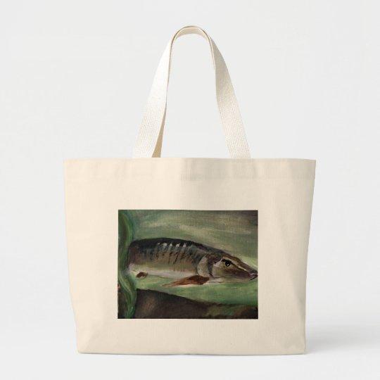 Children's Winning Artwork: muskie Large Tote Bag