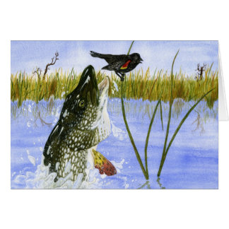 Children's Winning Artwork: northern pike Greeting Card