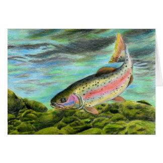 Children's Winning Artwork: rainbow trout Card