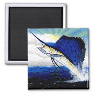 Children's Winning Artwork: sailfish 2 Inch Square Magnet