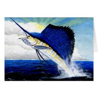 Children's Winning Artwork: sailfish Card