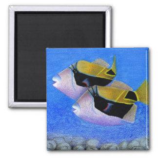 Children's Winning Artwork: triggerfish 2 Inch Square Magnet