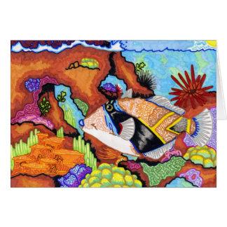 Children's Winning Artwork: triggerfish Card