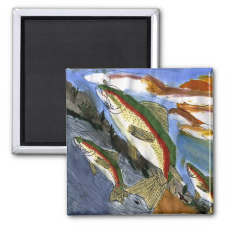Children's Winning Artwork: trout 2 Inch Square Magnet