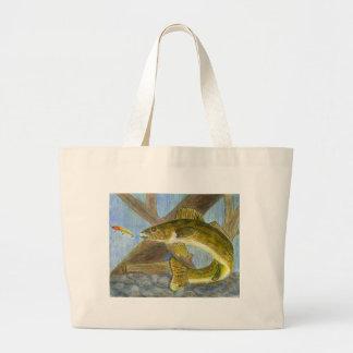 Children's Winning Artwork: walleye Large Tote Bag
