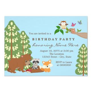 Childrens Woodland Birthday Party Card